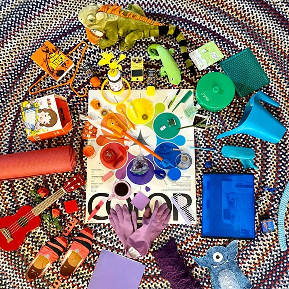 Found Objects Color Wheel