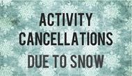 all afterschool and evening activities are cancelled for Friday, January 22nd