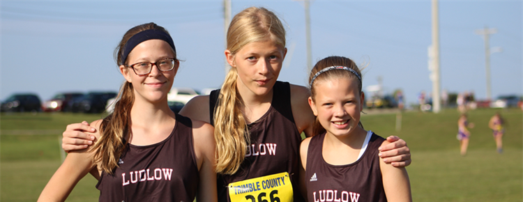 Girls cross country team.