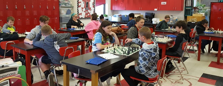 Kids love learning to play chess